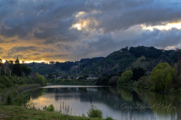 wanganui river sundown