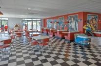 view inside diner