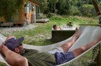 Hammock and outdoor Bathtub