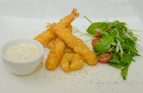Battered Prawn and Scallop Dish